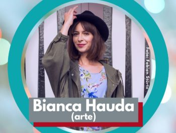 Moderatorin Bianca Hauda