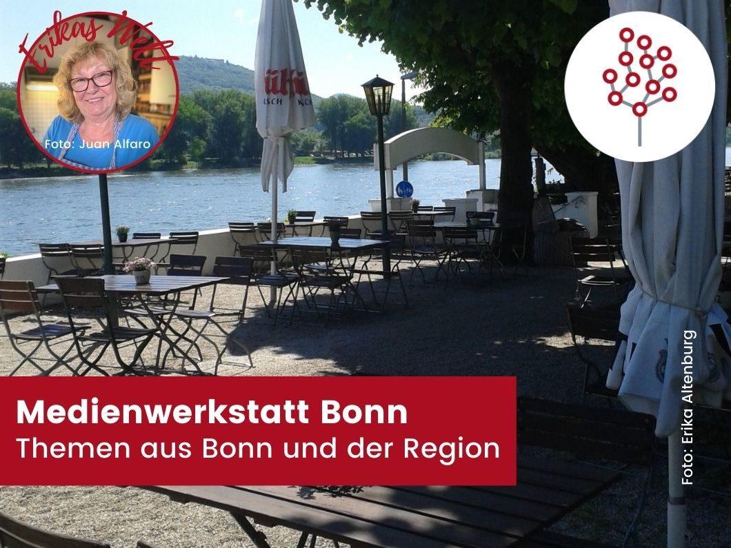 Biergarten mit Rheinblick